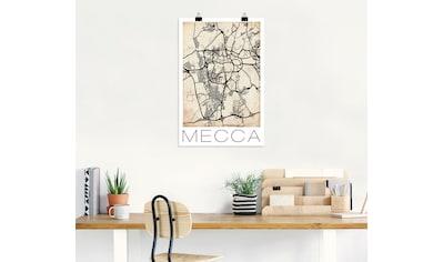 Artland Wandbild »Retro Karte Mekka Vintage Grunge« kaufen