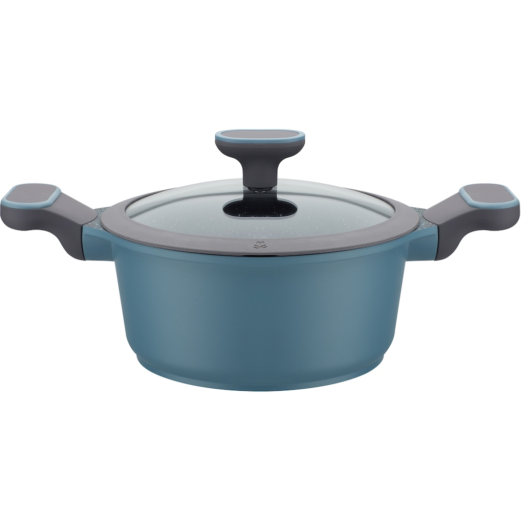 GSW Topf-Set »Blue Granit«, Aluminiumguss, (Set, 7 tlg.), Induktion