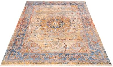 DELAVITA Teppich »Simon«, rechteckig, 6 mm Höhe, Größe 1+2 wird ohne Fransen geliefert., Wohnzimmer kaufen