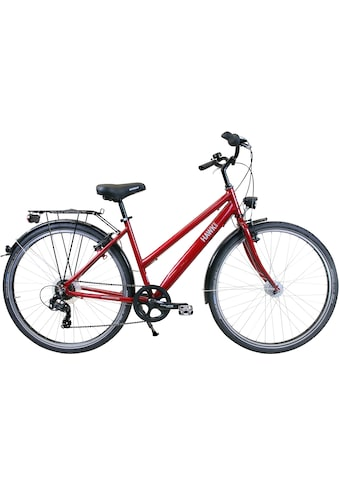 HAWK Bikes Trekkingrad »HAWK Citytrek Easy Red Lady«, 7 Gang Shimano Tourney Schaltwerk kaufen
