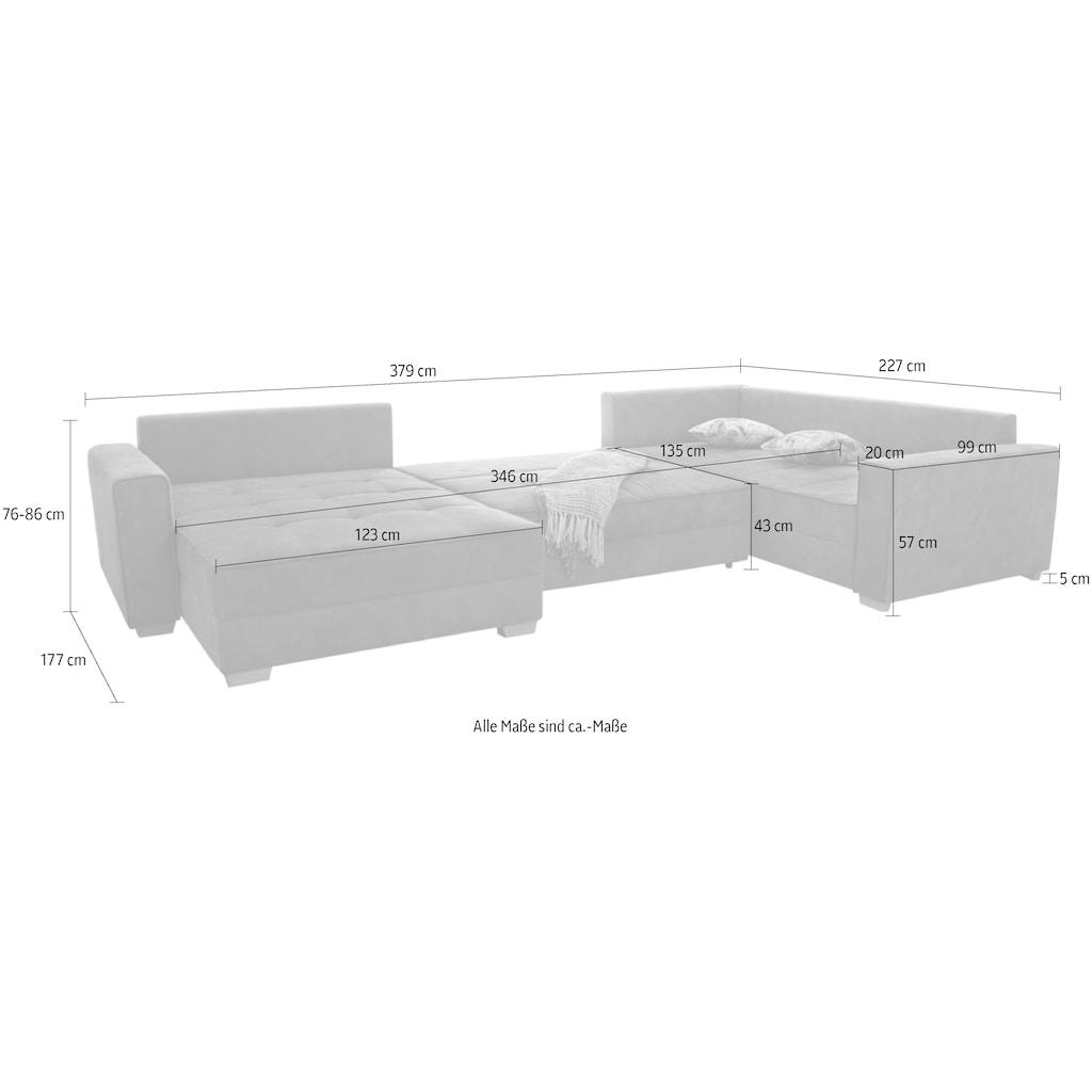 Jockenhöfer Gruppe Wohnlandschaft, mit extra viel Platz, Bettkasten und großer Liegefläche
