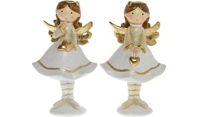 Engelfigur »Mit Herz«, aus Polyresin, Höhe ca. 15,5 cm kaufen
