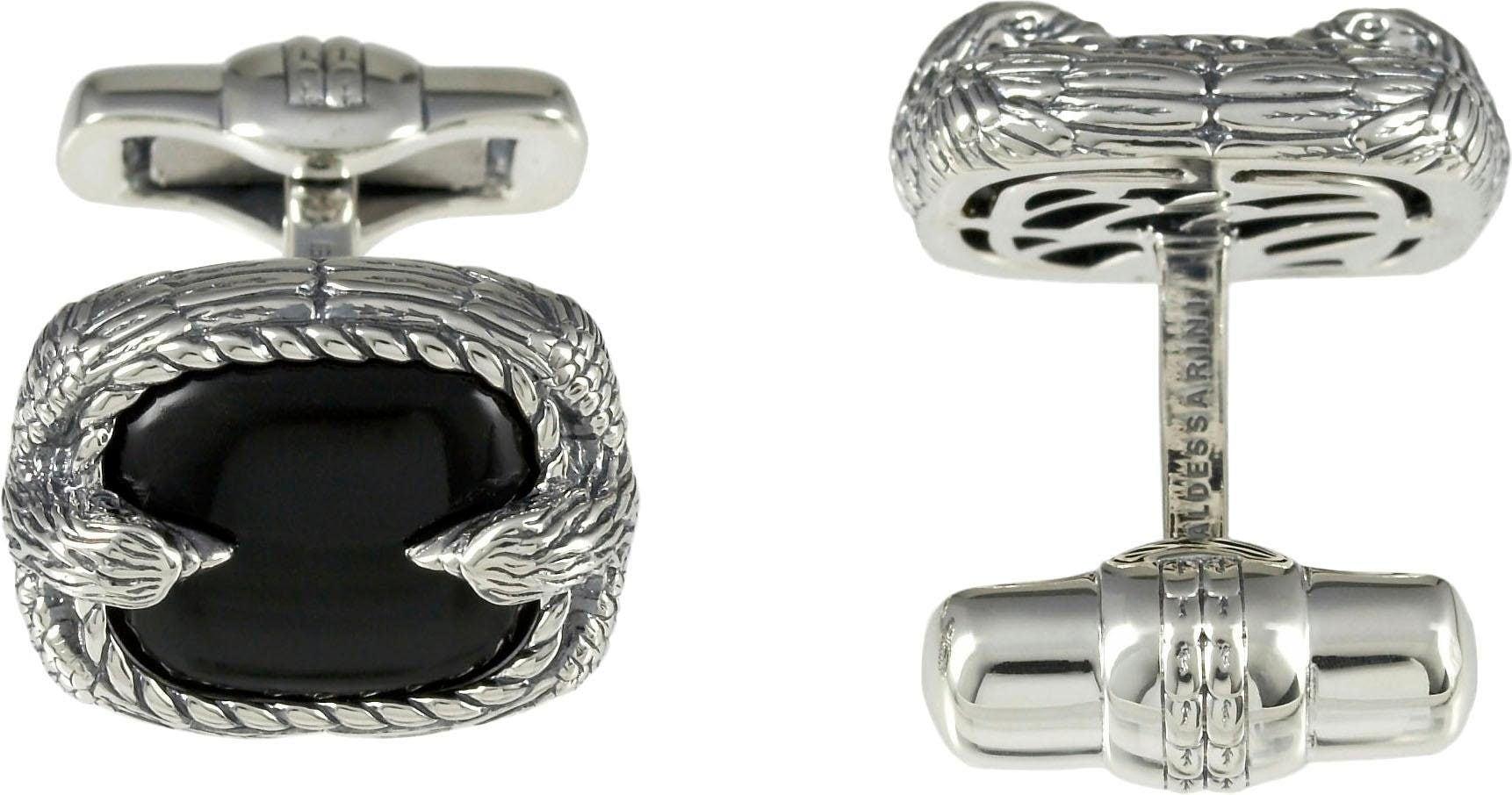 BALDESSARINI Manschettenknöpfe »Adler, Y2045C/90/E3«, mit Obsidian günstig online kaufen