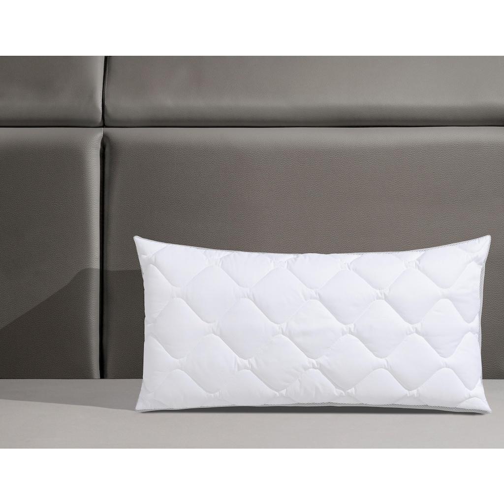 fan Schlafkomfort Exklusiv Microfaserkissen »Mabona«, Bezug: TopCool, (1 St.), Exzellente Klimafunktion durch Lüftungsband