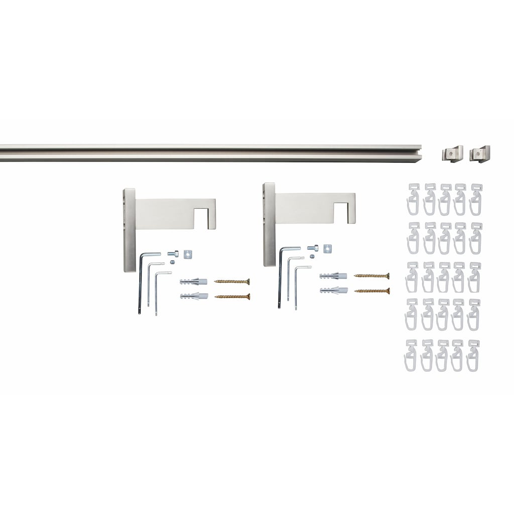 GARESA Innenlaufschiene »Flat«, 1 läufig-läufig, Wunschmaßlänge