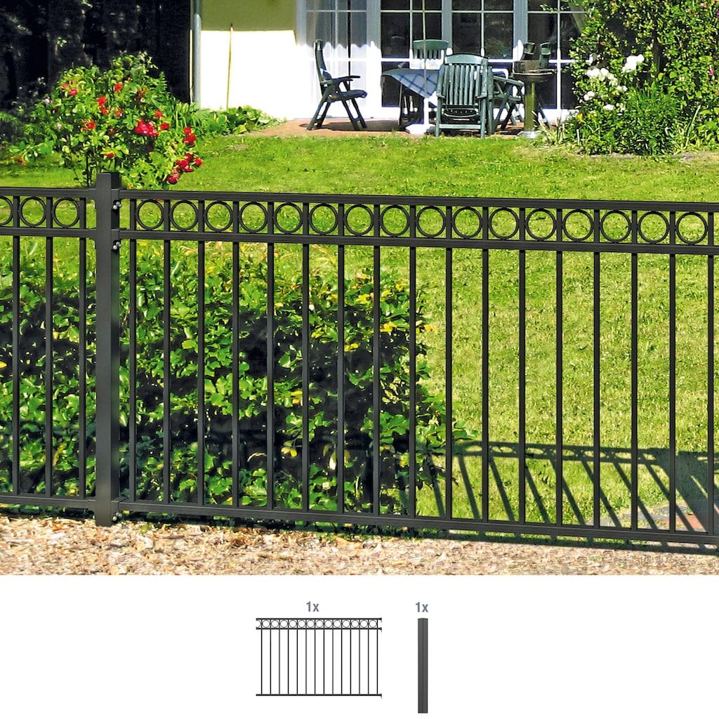 GAH Alberts Metallzaun »Circle«, Anbauset 100x200 cm, 1 Pfosten zum Einbetonieren