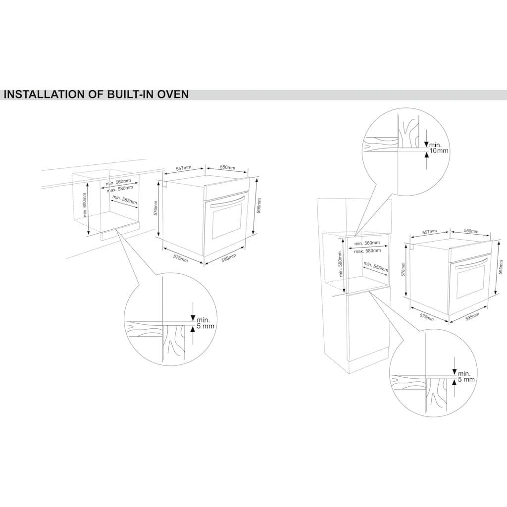 Sharp Einbaubackofen »K-60D19IM1-EU«, K-60D19IM1-EU, mit Vollauszug