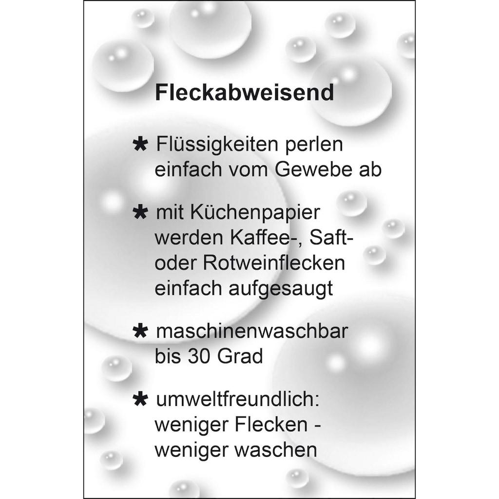 Delindo Lifestyle Tischdecke »STONE«, Jacquard, Fleckschutz, 180 g/m²