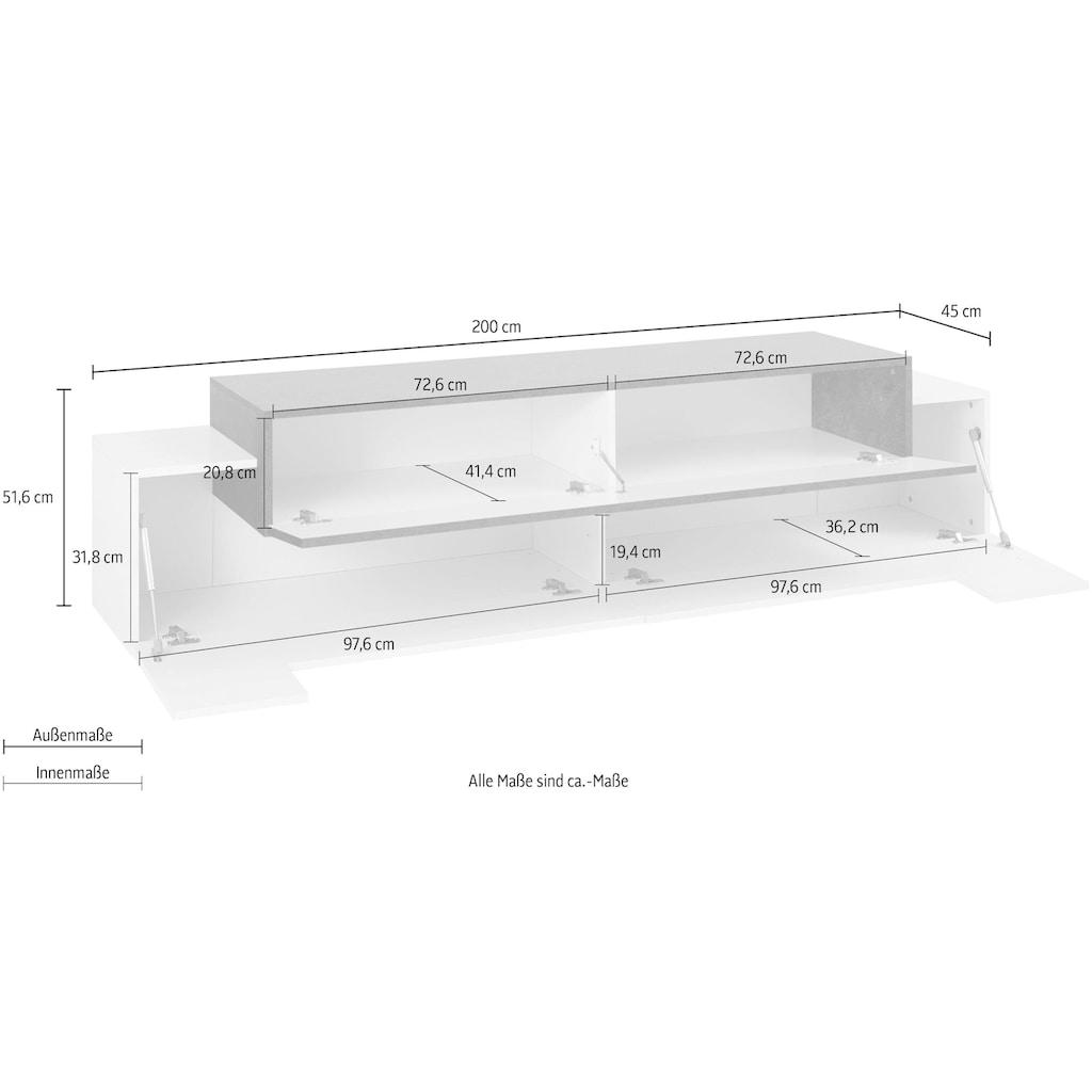 Tecnos Lowboard »Coro«, Breite 200 cm