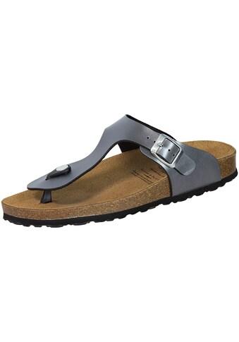 Sandale »560030«, Lico Bioline Zehenpantolette grau kaufen