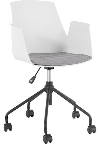 my home Schreibtischstuhl »Tayler«, mit einer Kunststoffschale und einem Webstoff Sitzkissen (abnehmbar), Gestell aus Metall, Höhenverstellbar, Sitzhöhe 50 cm kaufen