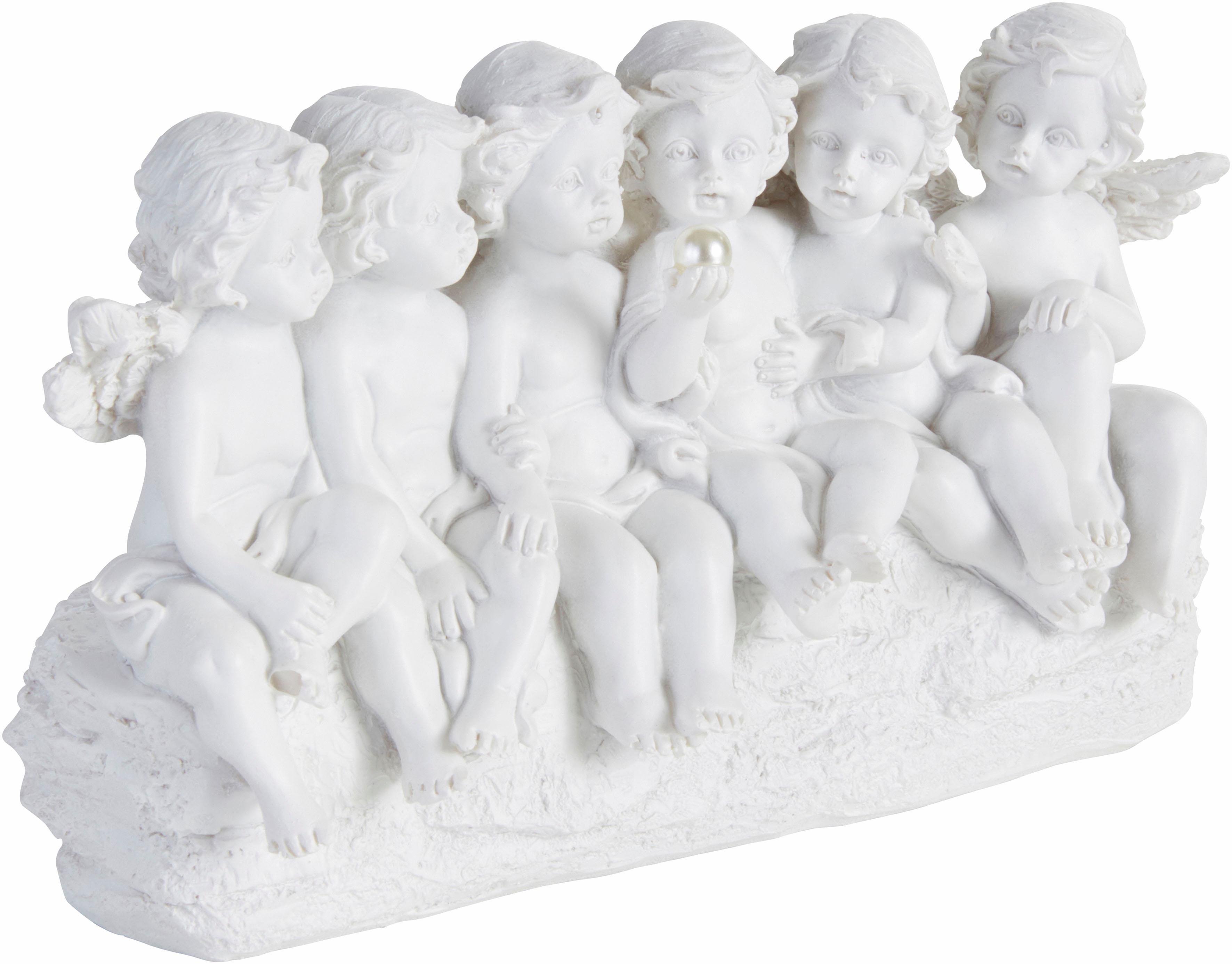 pajoma Engelfigur Engel weiß Engelfiguren Figuren Skulpturen Wohnaccessoires