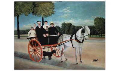 Artland Glasbild »Der Karren des alten Juniet. 1908«, Kutschen, (1 St.) kaufen