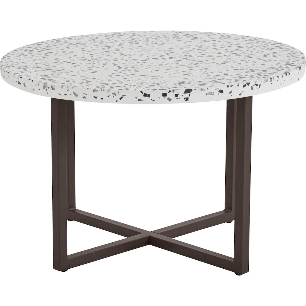 INOSIGN Beistelltisch »Steph«, mit schönem Metallgestell und edler Terrazzo-Tischplatte