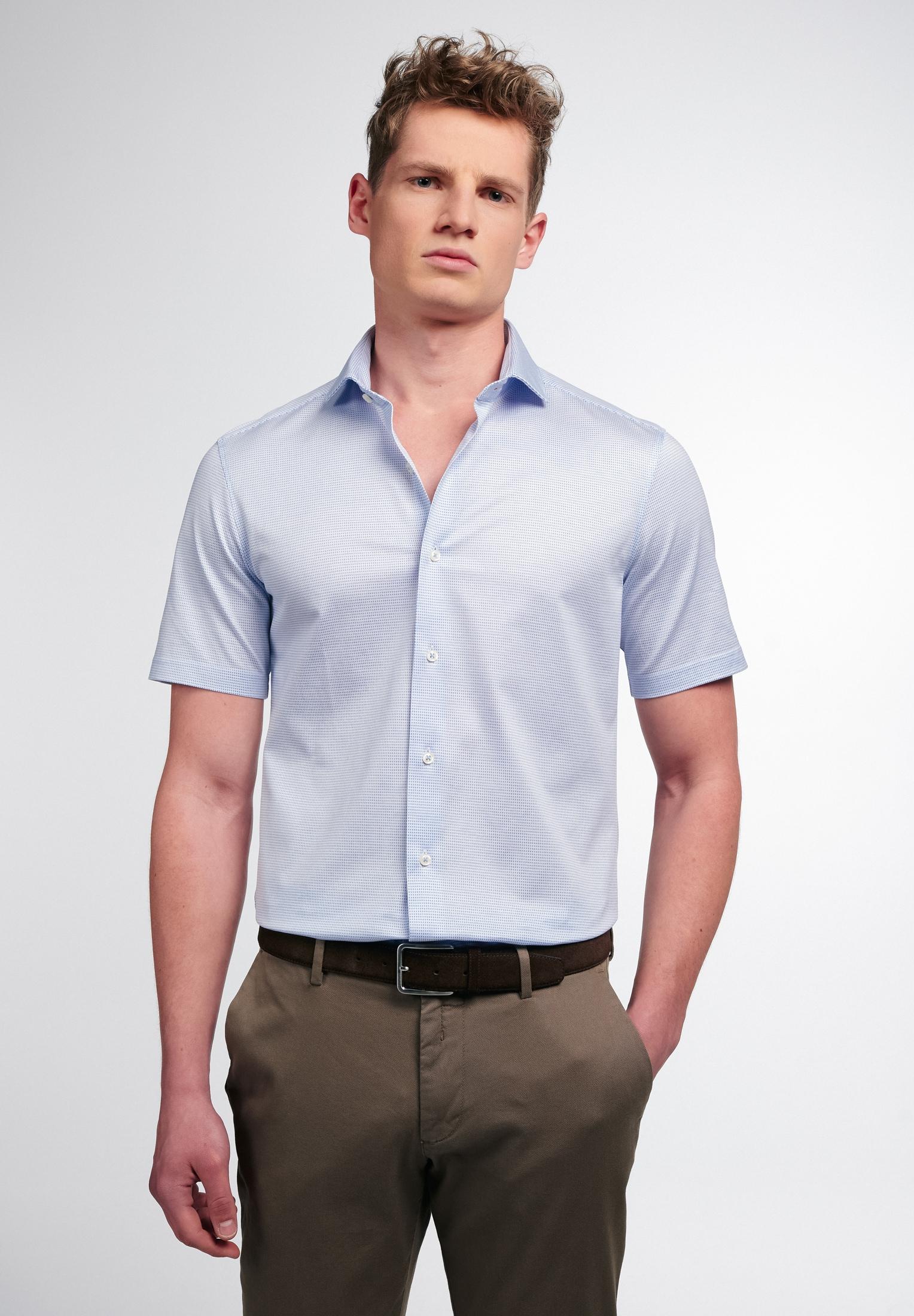 Eterna Businesshemd SLIM FIT, Kurzarm blau Herren Business Hemden Businessmode