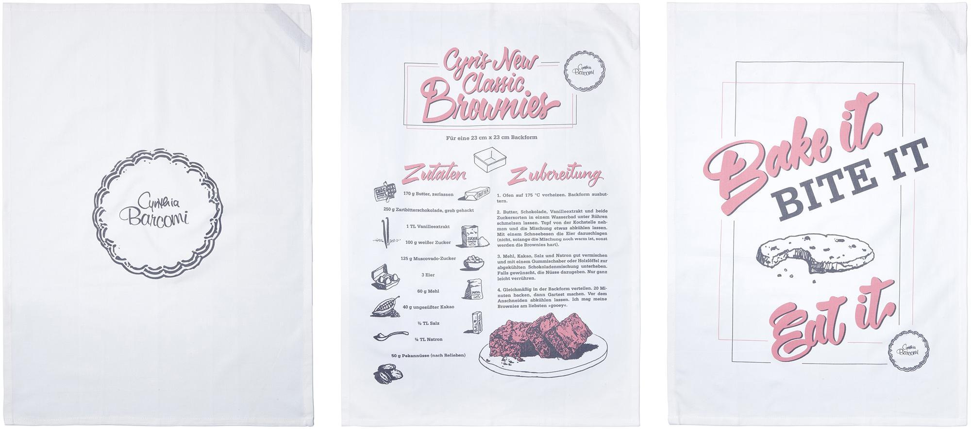 Cynthia Barcomi Geschirrtuch, reine Baumwolle bunt Geschirrtücher Küchenhelfer Haushaltswaren Geschirrtuch