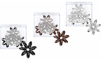 invisibobble Spiral-Haargummi »Nano«, True Black/Pretzel Brown/Crystal Clear kaufen