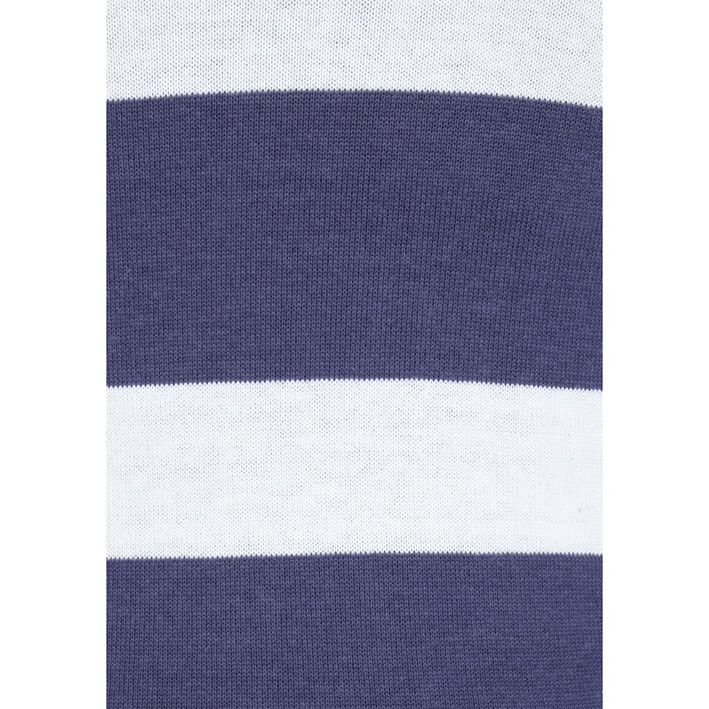 KangaROOS Kapuzenstrickjacke, in trendigem Streifendesign