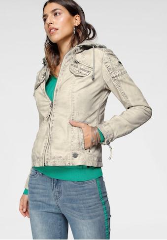 KangaROOS Lederjacke, mit Kapuze aus Shirt-Ware kaufen