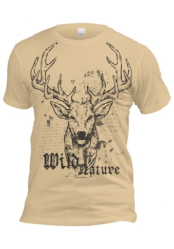 Der Trachtler Trachten - Shirt mit auffälligem Print kaufen