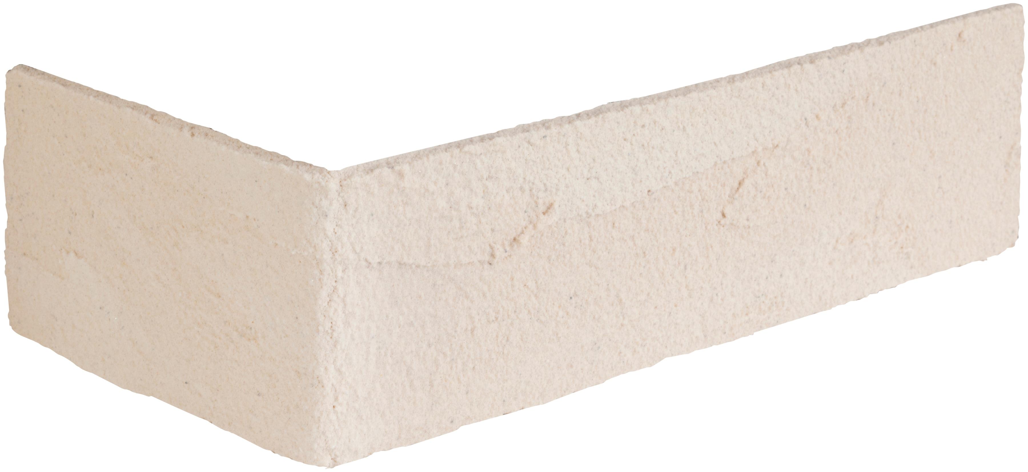 ELASTOLITH Verblender Rhodos Eckverblender, cremeweiß, für Innen- und Aussenbereich, 2 Lfm beige Verblendsteine Paneele Bauen Renovieren