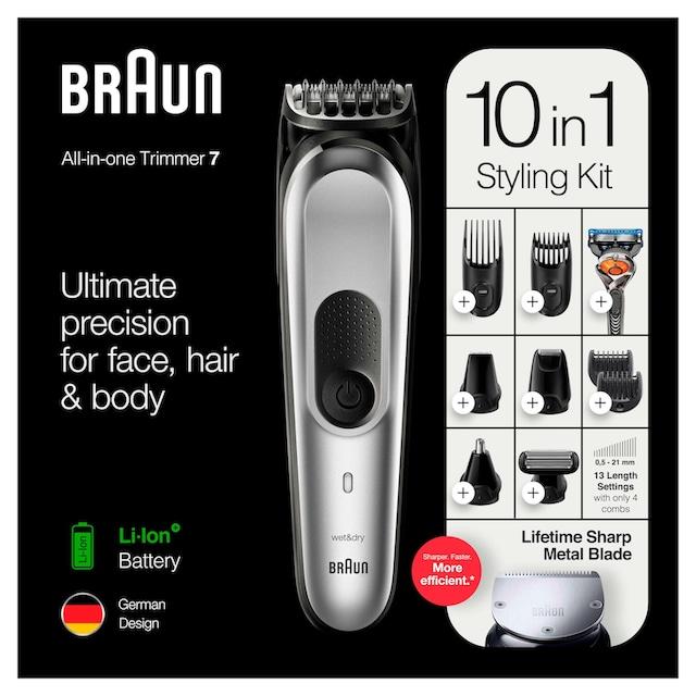 Braun Multifunktionstrimmer 10-in-1 Multi-Grooming-Kit 7 MGK7220