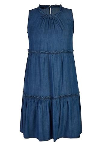 Thomas Rabe Kleid in Jeans-Optik mit Raffungen kaufen