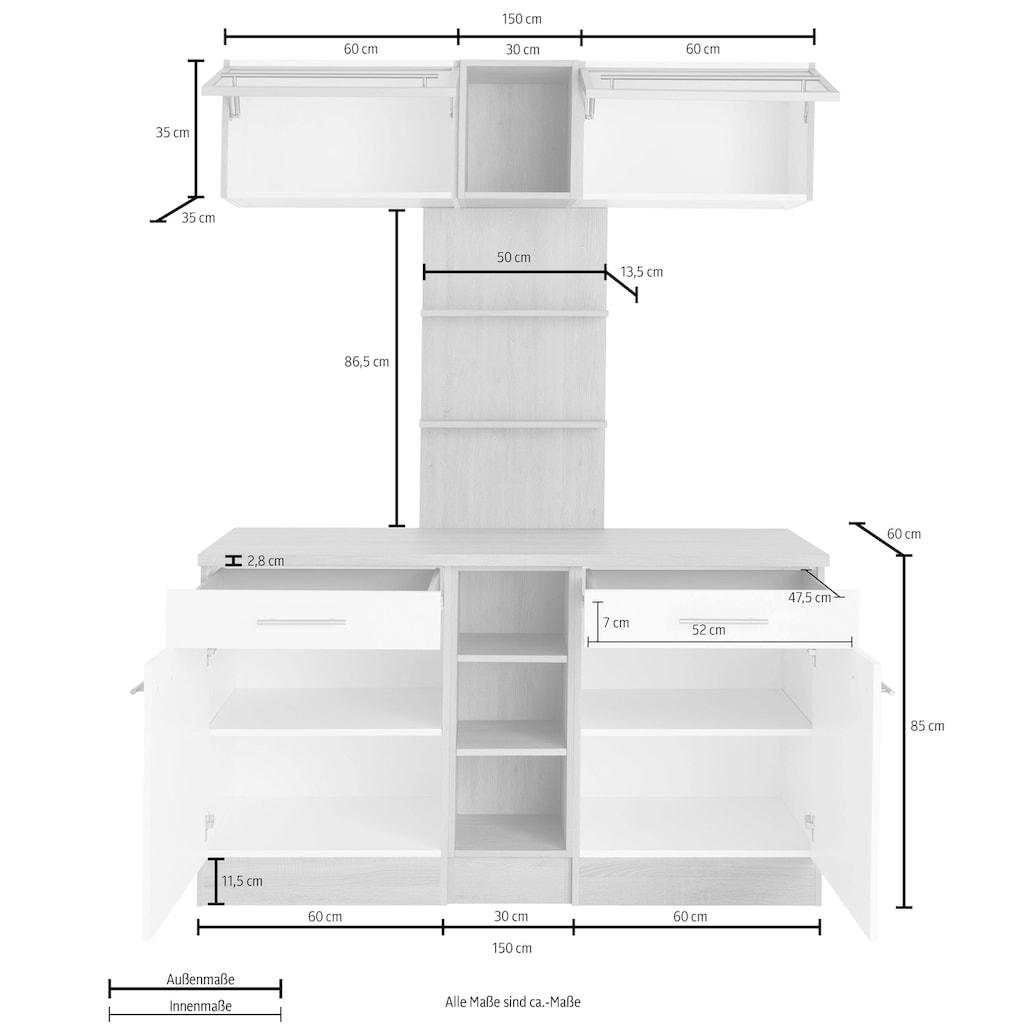 OPTIFIT Küchenbuffet »Kalmar«, Breite 150 cm