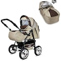 "bergsteiger Kombi-Kinderwagen ""Rio, coffee & brown, 3in1"", (10-tlg.)"