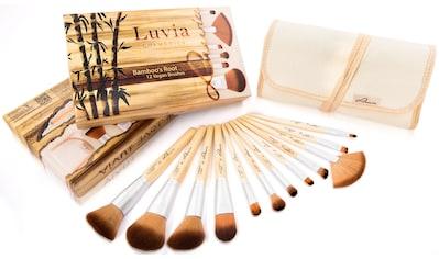 "Luvia Cosmetics Kosmetikpinsel - Set ""Bamboo's Root"", 12 - tlg., zzgl. Aufbewahrungstasche kaufen"