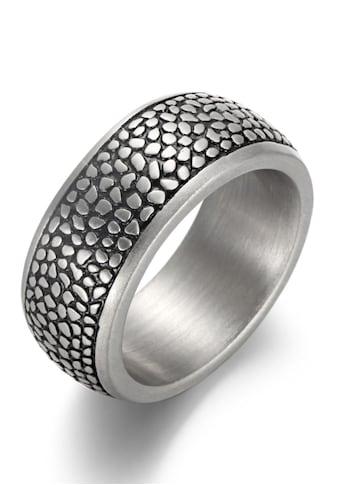 Firetti Fingerring »10,0 mm, Reptilienoptik, matt, strukturiert,« kaufen