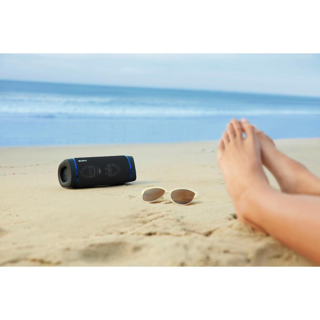 Sony Bluetooth-Lautsprecher »SRS-XB33 tragbarer, kabelloser«, Mehrfarbige Lichtleiste, Lautsprecherbeleuchtung, wasserabweisend, Extra Bass