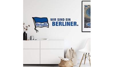Wall-Art Wandtattoo »Hertha BSC Logo Schriftzug« kaufen