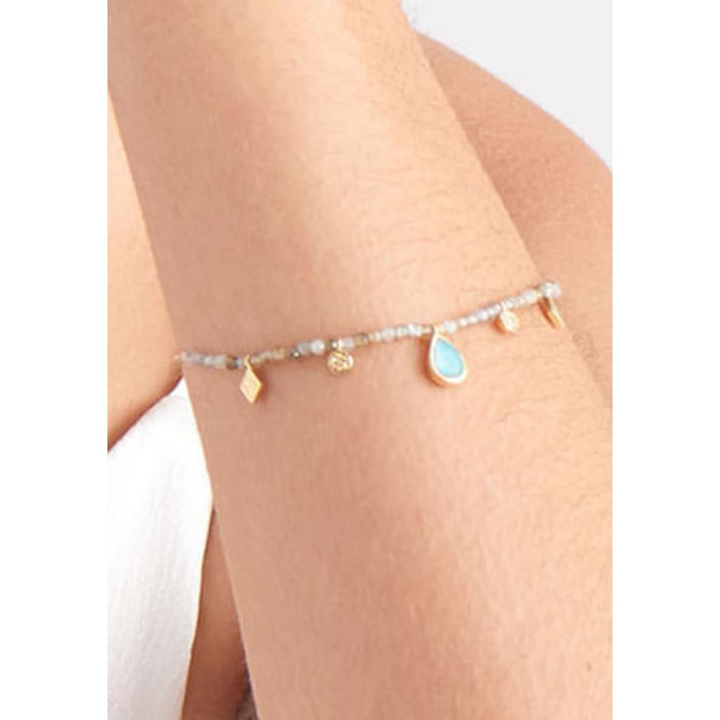 Ania Haie Armband »Mineral Glow, B014-03G«, mit Labradorit und Glasstein