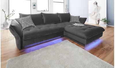 INOSIGN Ecksofa »Palladio«, wahlweise mit Bettfunktion und Ambiente RGB-LED Beleuchtung kaufen