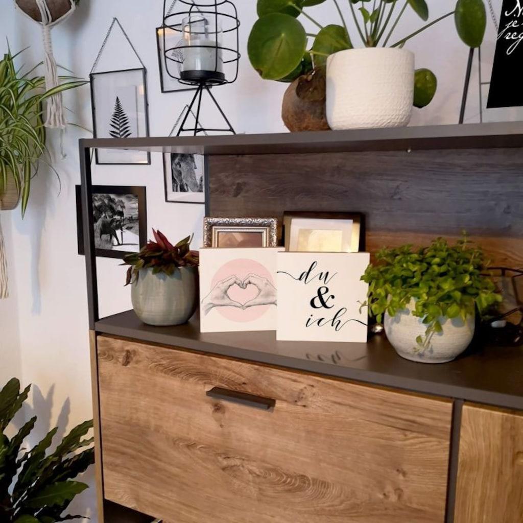 Wall-Art Holzbild »Tischdeko Herz in der Hand«, (1 St.)