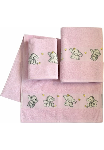 Dyckhoff Handtuch Set »Elefant 2«, mit feiner Bordüre und Elefanten Motiv kaufen
