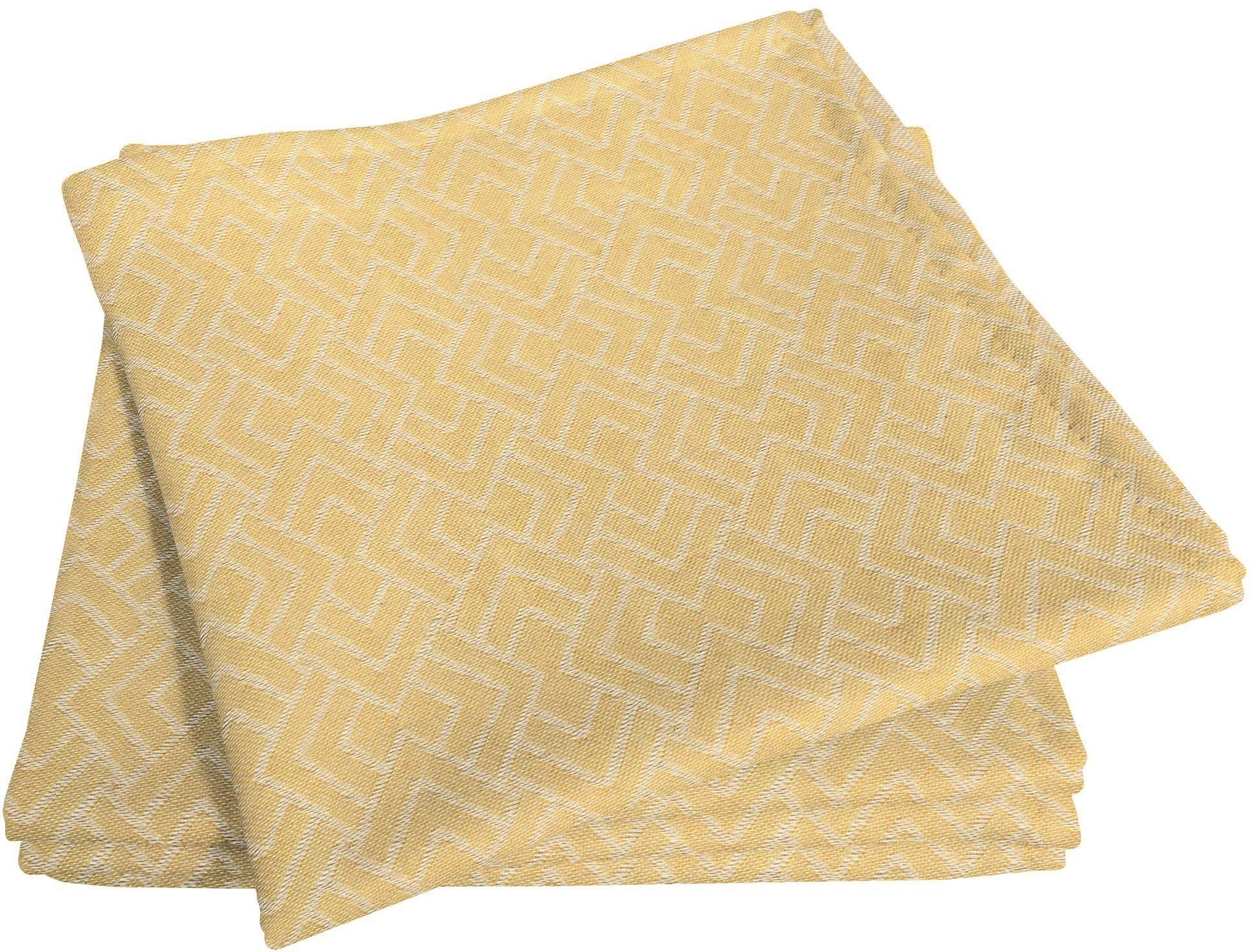 Stoffserviette, Graphic Ventus Light, Adam gelb Stoffservietten Tischwäsche Serviette