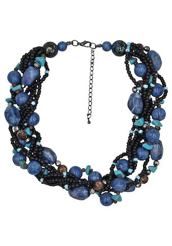 Steuer Kette »Modekette blau/schwarz aus verschiedenen Perlen« kaufen