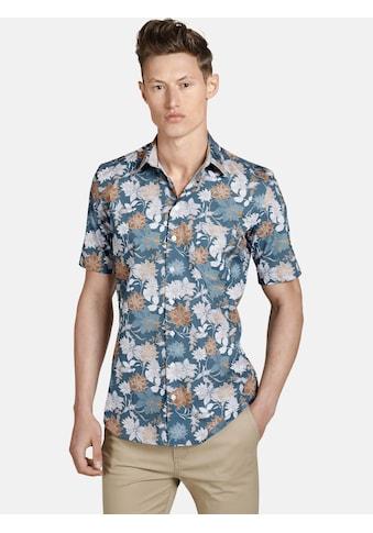 SHIRTMASTER Kurzarmhemd »iceflowers«, Hawaiihemd in All Over Druck kaufen