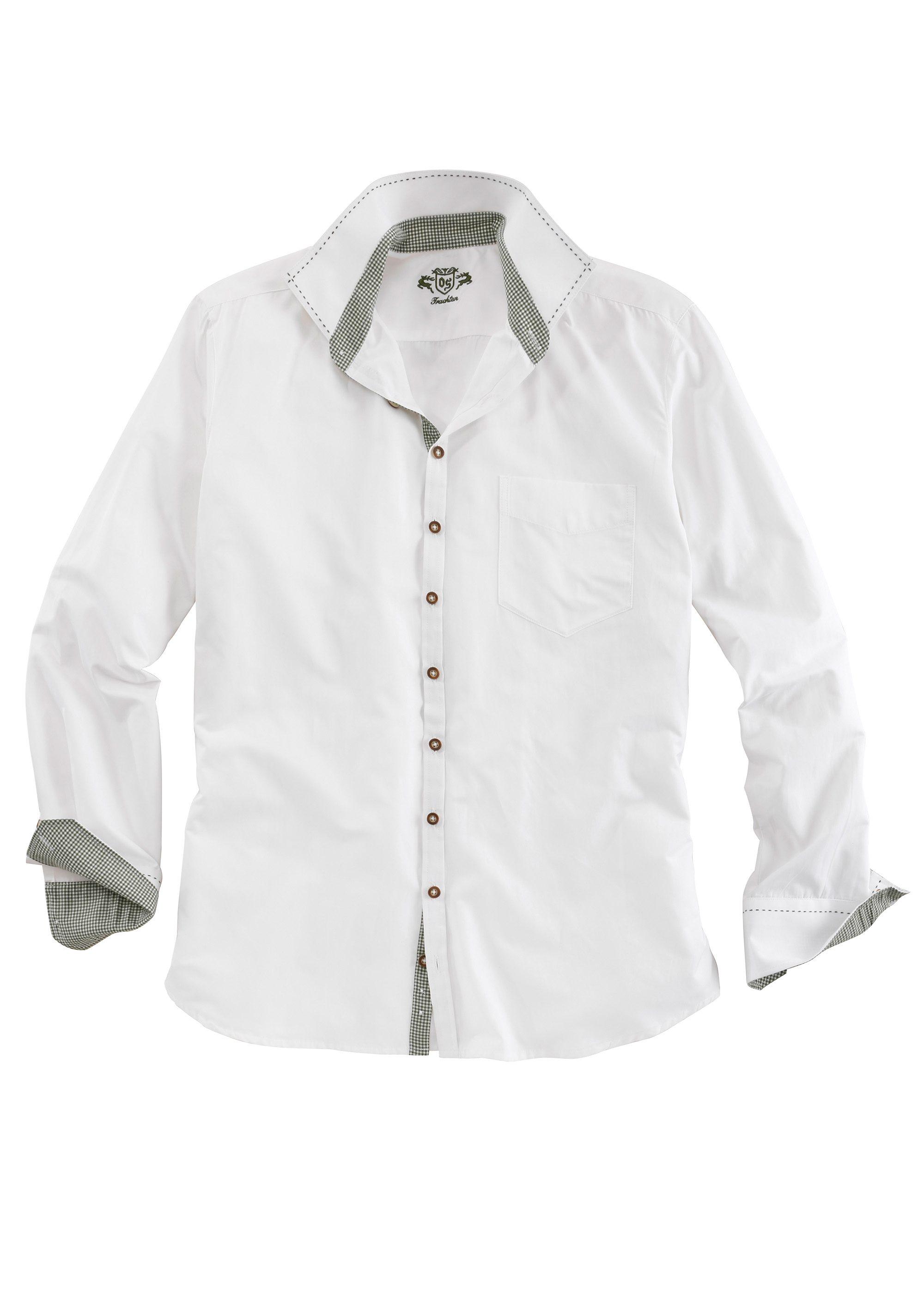 OS-Trachten Trachtenhemd mit Ziersteppnähten
