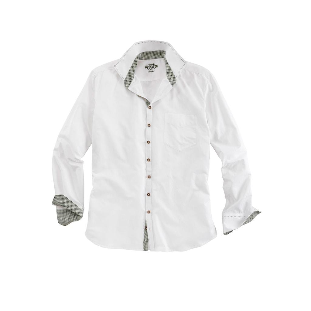 OS-Trachten Trachtenhemd, mit Ziersteppnähten