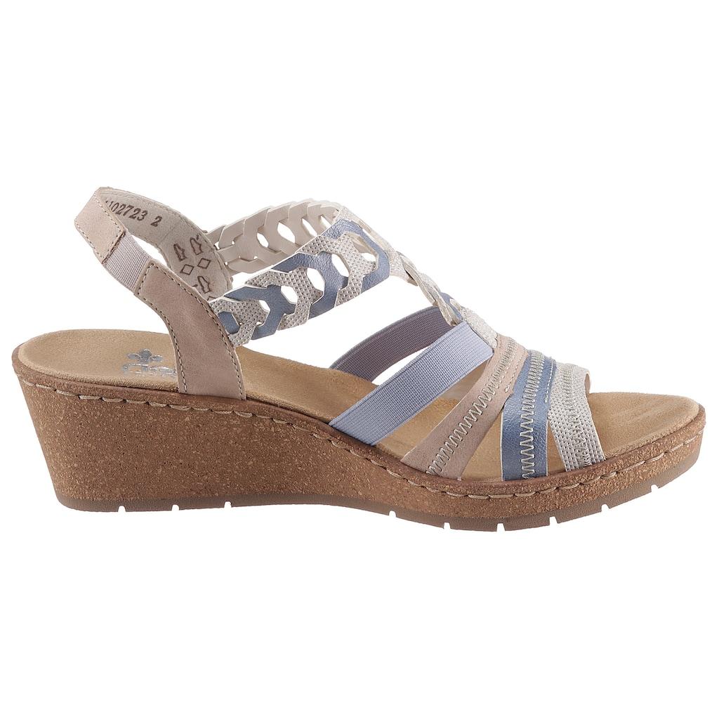 Rieker Sandalette, in sommerlichen Pastelltönen