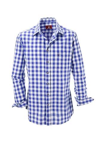 Trachtenhemd, kariert, OS - Trachten kaufen