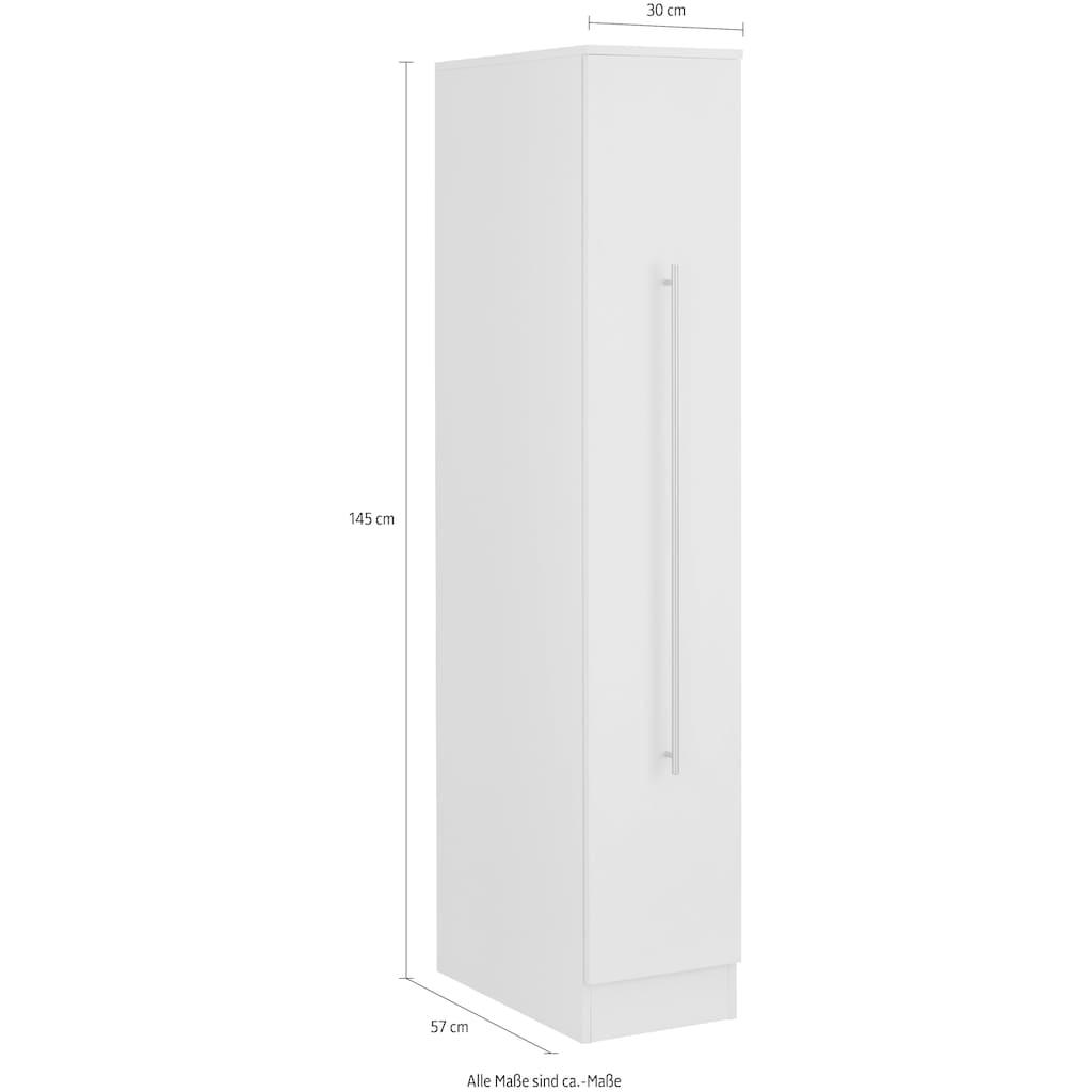 wiho Küchen Apothekerschrank »Chicago«, 30 cm breit, 145 cm hoch, Auszug mit 3 Ablagefächern