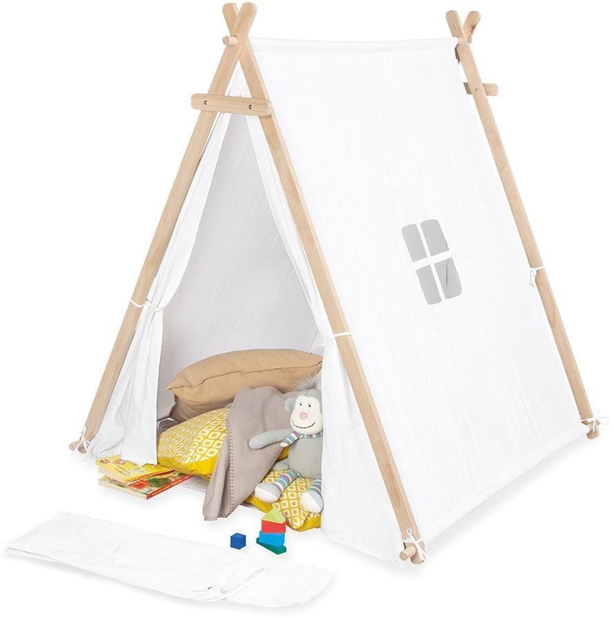 Pinolino Spielzelt Noah, weiß Kinder Spieltunnel Outdoor-Spielzeug