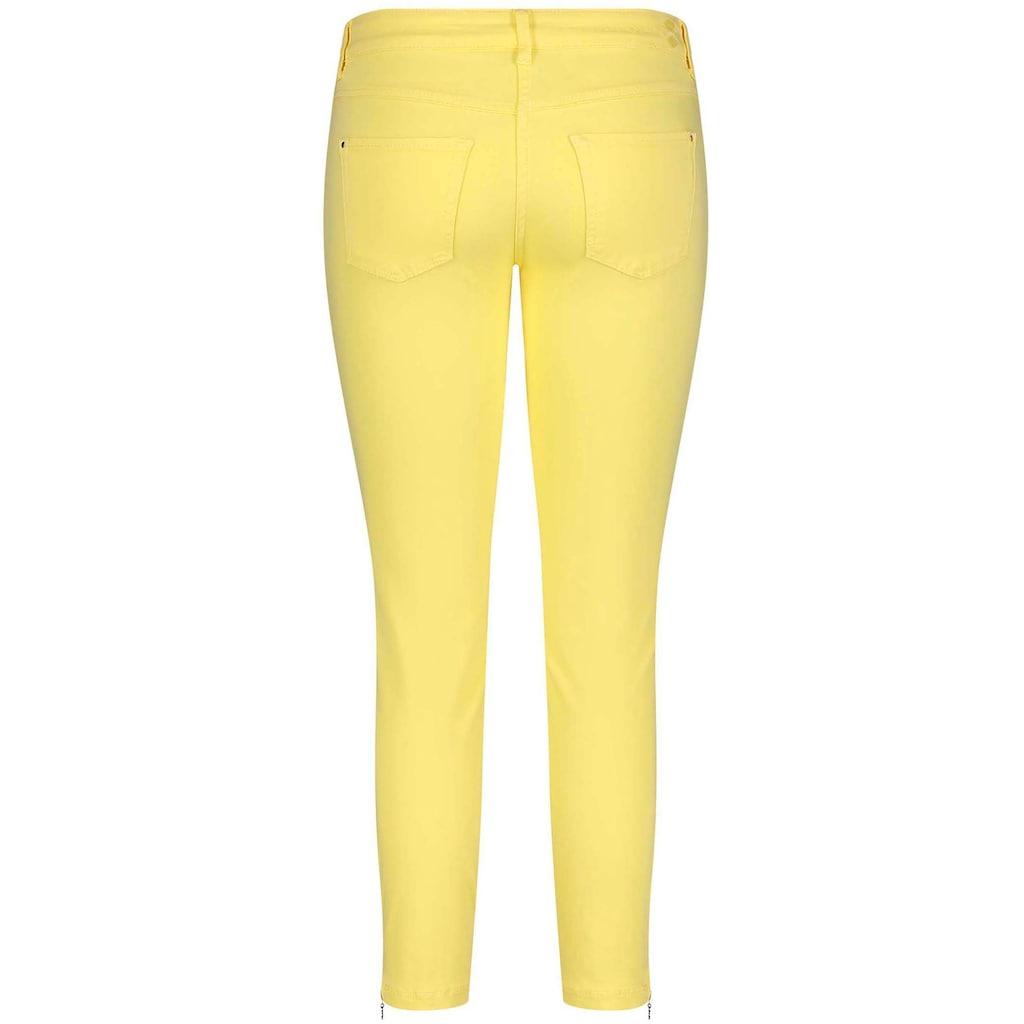 MAC 7/8-Jeans »Dream Chic«, Verkürzte Form mit Reißverschluss am Saum