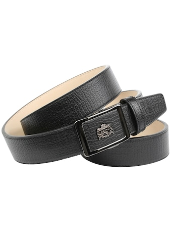 Anthoni Crown Ledergürtel, mit Metall-Logo kaufen
