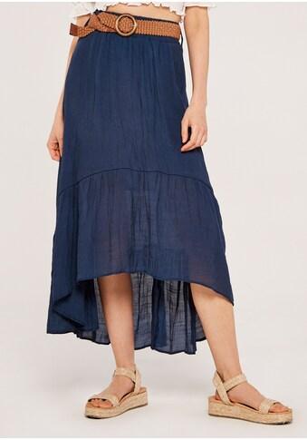 Apricot Maxirock »Shark Hem Crinkle Belted Skirt«, (mit Gürtel), mit Flechtgürtel kaufen