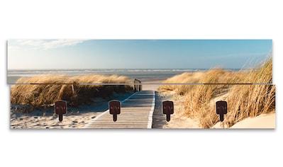 Artland Garderobenpaneel »Nordseestrand auf Langeoog - Steg«, platzsparende... kaufen